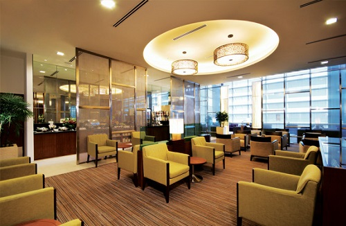 Singapore Airlines airport lounge
