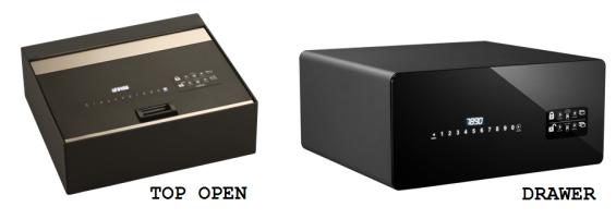 Indel B top open safe drawer